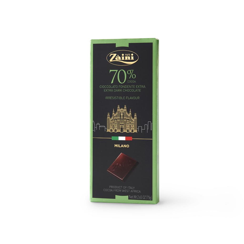 Extra Dark Chocolate 70% cocoa Bars 75g
