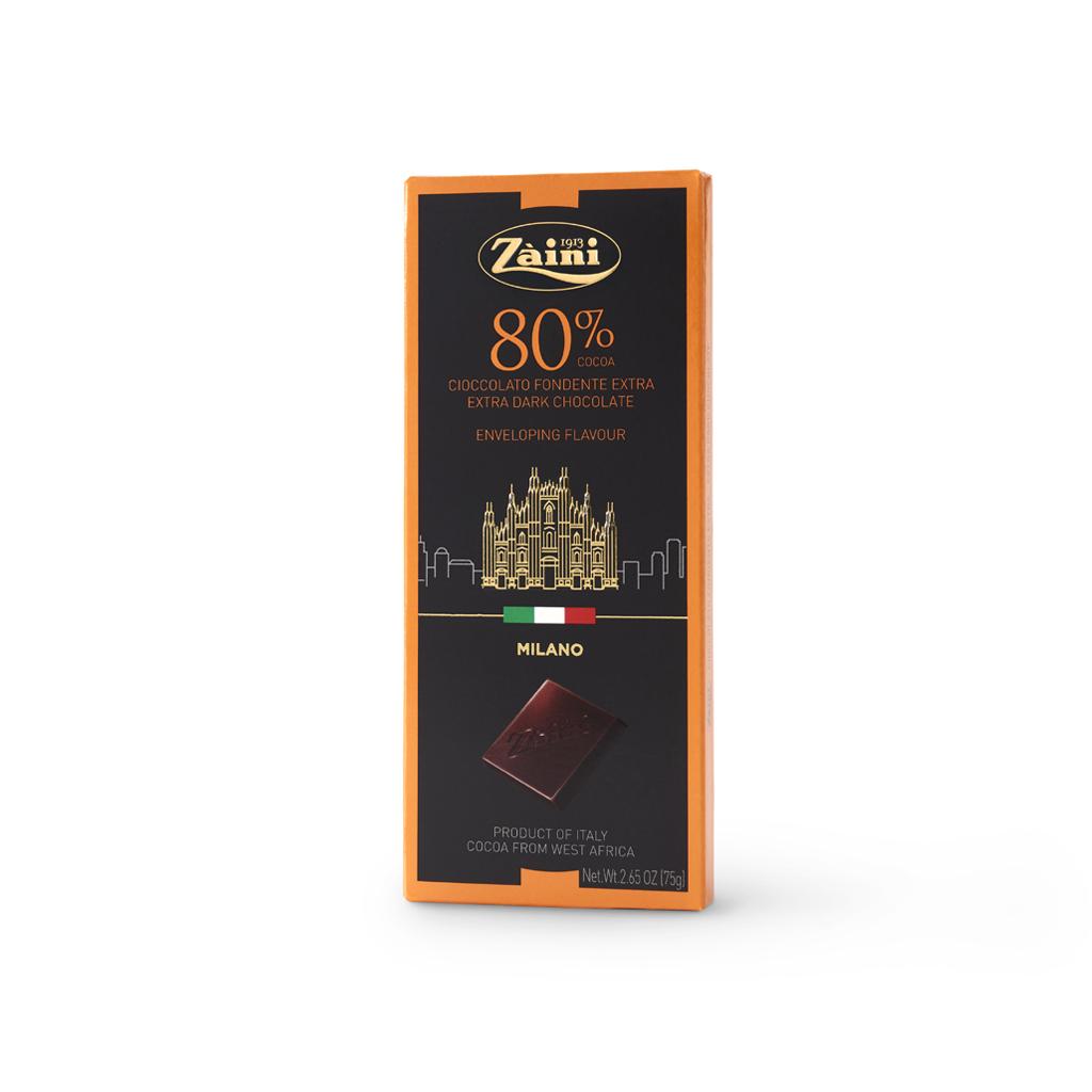 Extra Dark Chocolate 80% cocoa Bars 75g