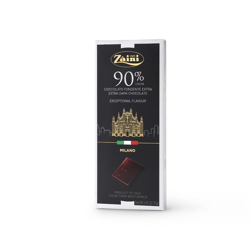 Extra Dark Chocolate 90% cocoa Bars 75g