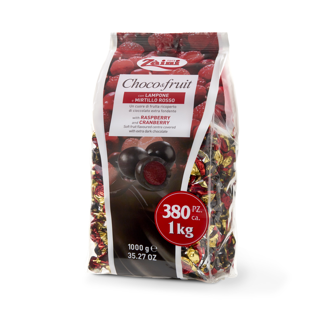Choco & Fruit: Pure fruit juice drops covered with extra dark chocolate 1000G