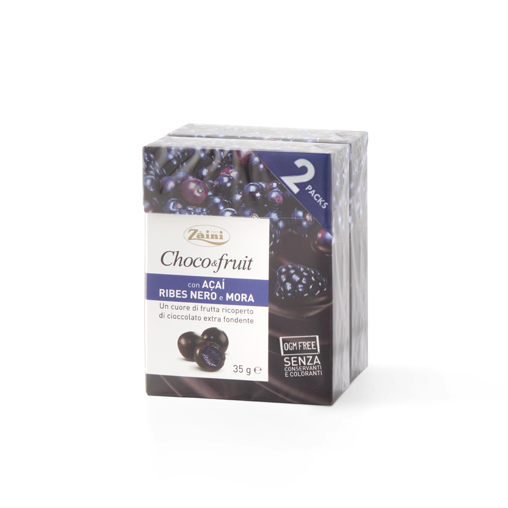 Choco&fruit: with Acai, Blackcurrant and Blackberry 70g