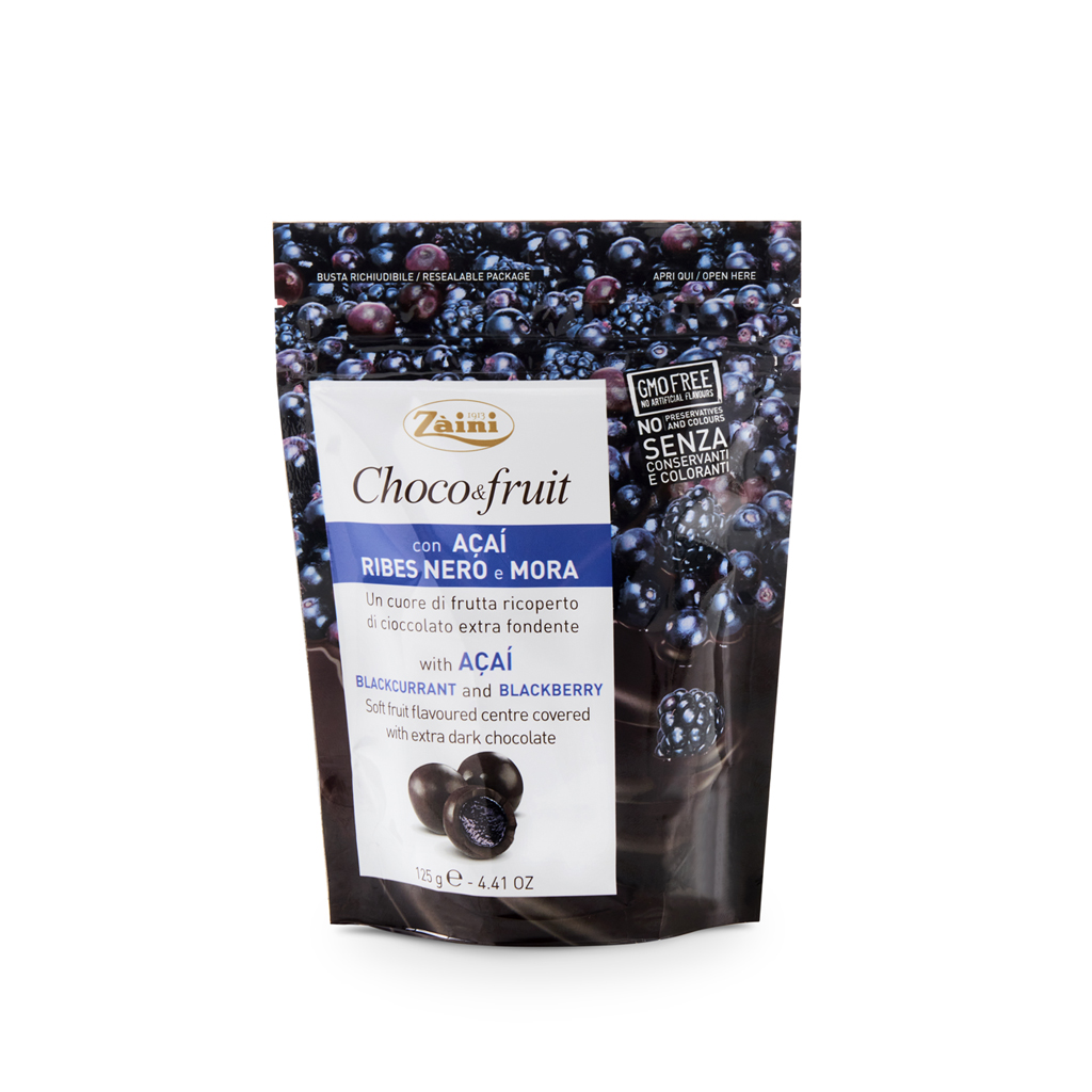 Choco&fruit: with Acai, Blackcurrant and Blackberry 125g