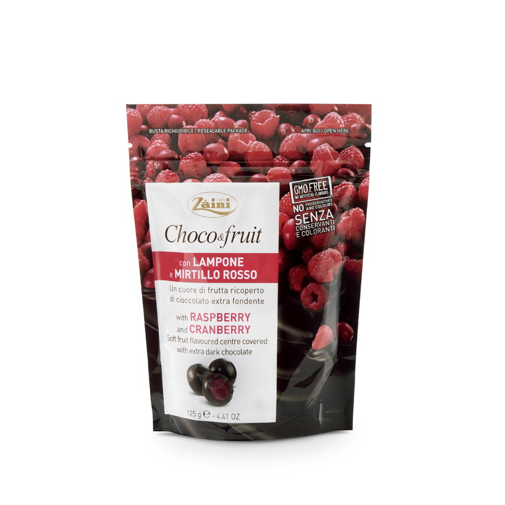 Choco&Fruit: Raspberry and Cranberry 125g