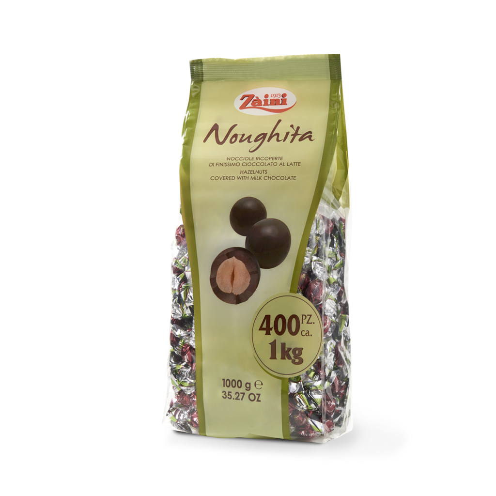 Noughita: Hazelnuts covered with milk chocolate 1000G