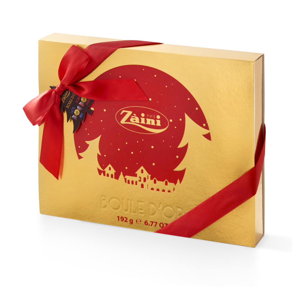 Milk and dark Boule d'Or Christmas gift box 192g
