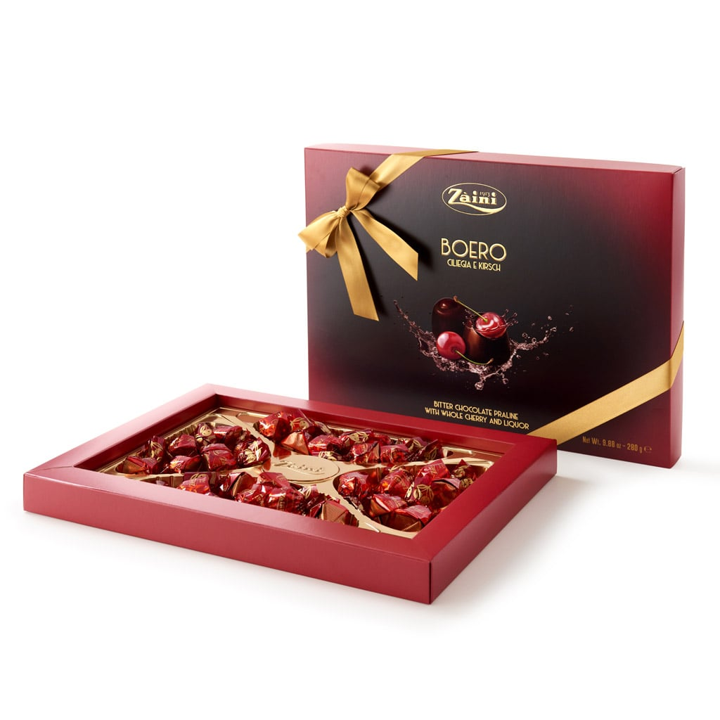 Boeri Box - Dark Chocolate Extra Praline with whole Cherry and Liqueur 280G