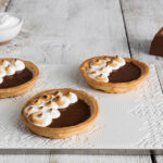 MILK CHOCOLATE AND ITALIAN MERINGUE TARTS