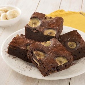 BROWNIE AL CIOCCOLATO E BANANA